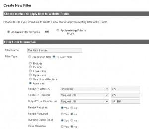 Фильтр для отображения статистики по страницам